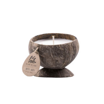 Coconut candle Arctic White sfeer kaars